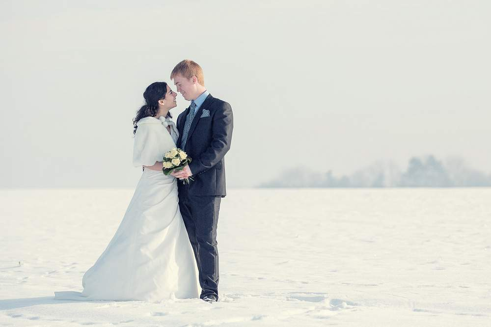 photographe mariage nancy hiver neige