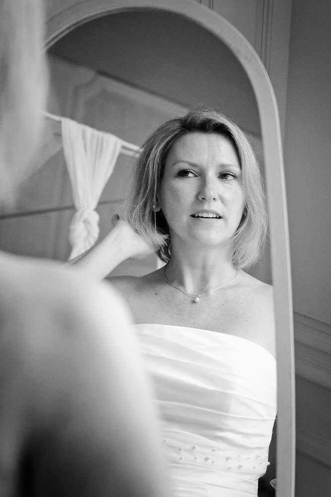 photographe mariage nancy preparatifs miroir mariee