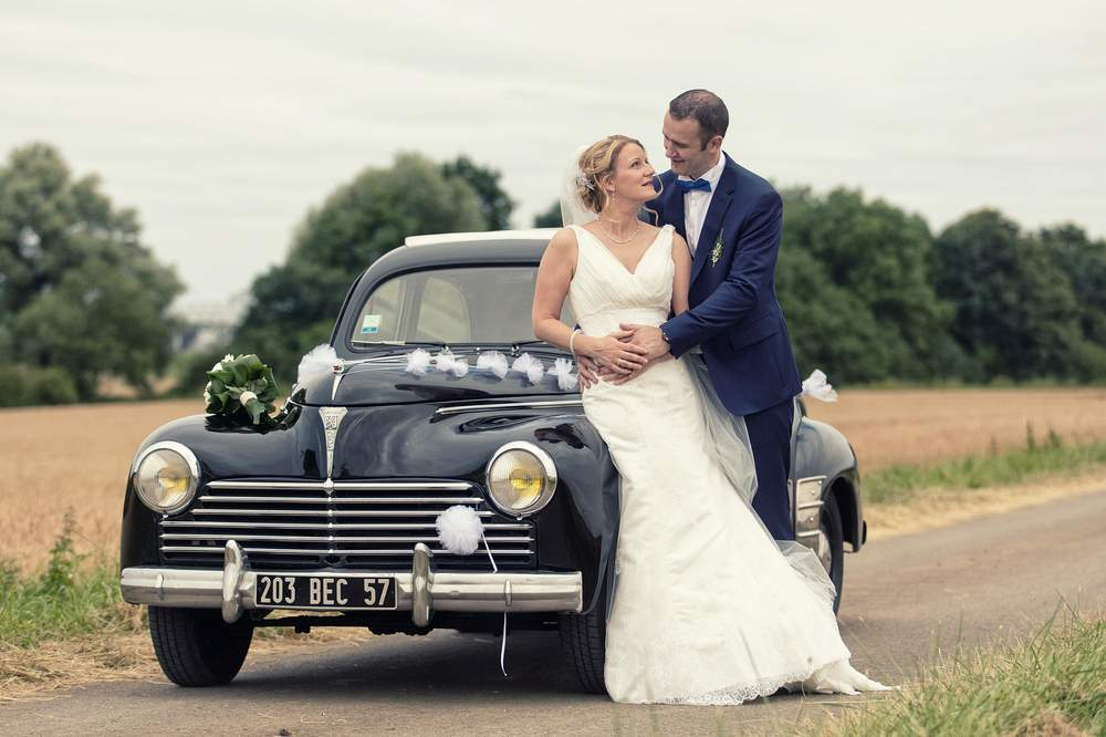 photographe mariage nancy vieille voiture campagne