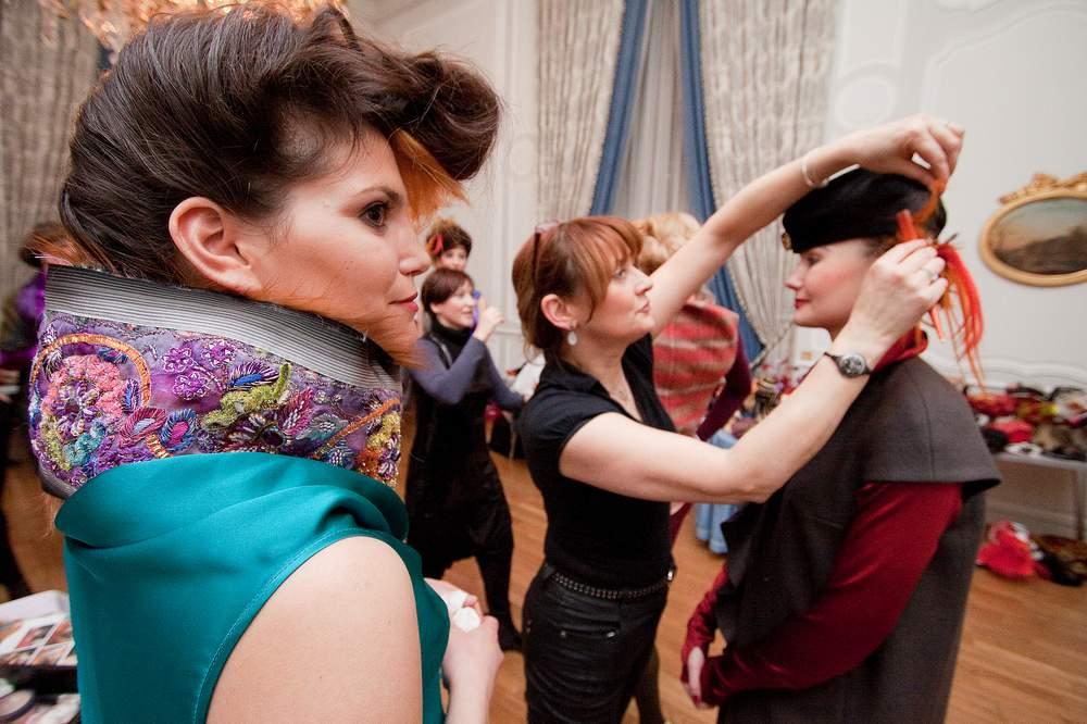 reportage lorraine preparation defile de mode