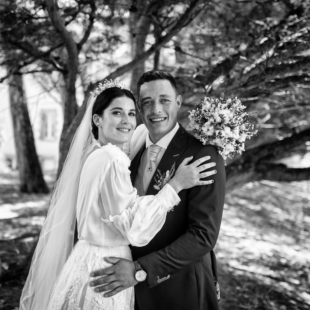photographe mariage nancy couple noir et blanc